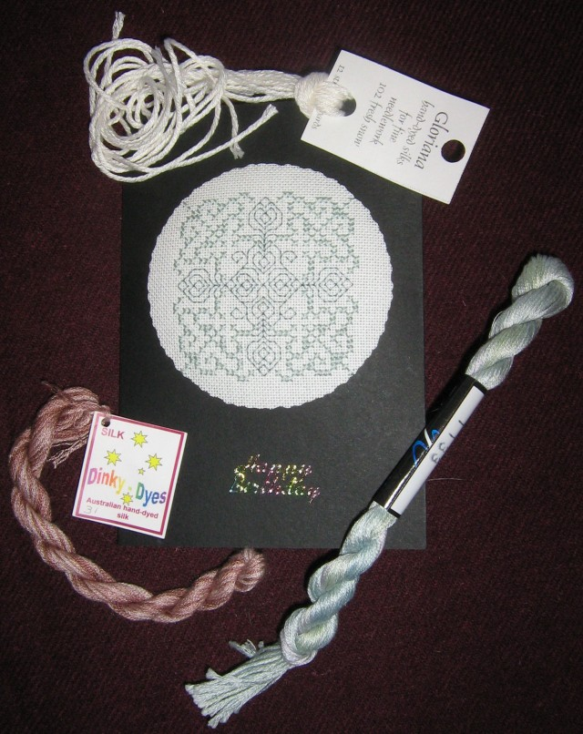 Stitched card birthday floss club
